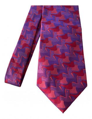 Gucci Burgundy Silk Ties