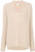 Forte Forte ribbed U-neck sweater