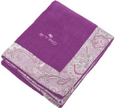 Etro Abbots Beach Towel with Border - Purple