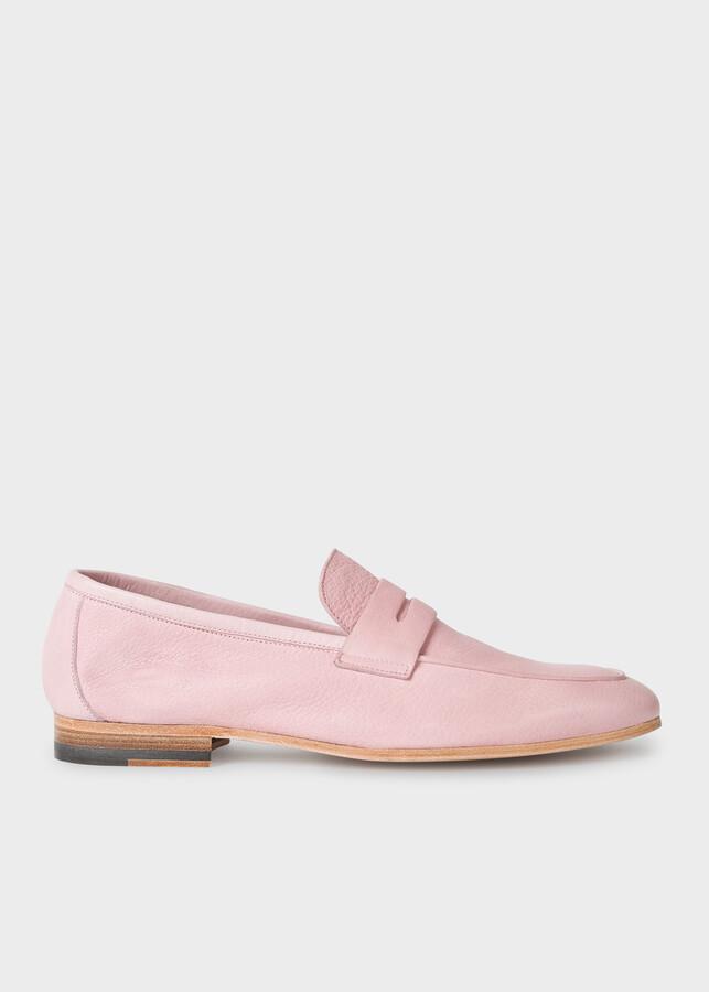 Paul Smith Men's Dusky Pink Leather 'Glynn' Loafers