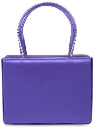 Amina Muaddi Super Mini Embellished Satin Gilda Top-Handle Bag