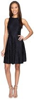 Donna Morgan Sleeveless Chevron Lace Fit and Flare with Full Skirt