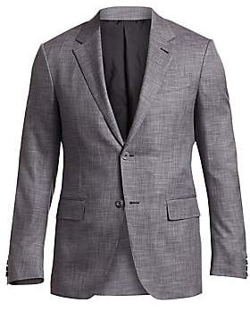 Ermenegildo Zegna Men's Check Twill Wool Jacket