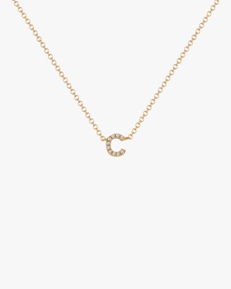 Ef Collection Diamond 'C' Initial Pendant Necklace