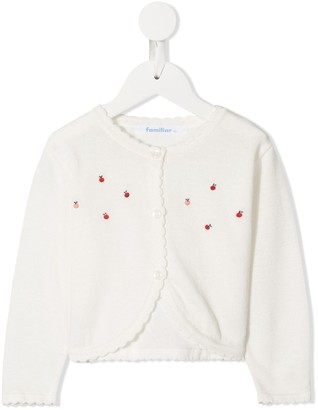 Familiar Embroidered Apple Cardigan
