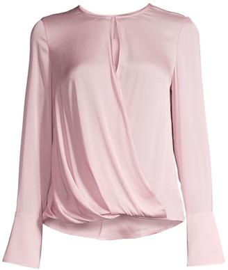 Milly Elysa Silk-Blend Wrap Blouse