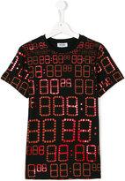 Moschino Kids time print T-shirt