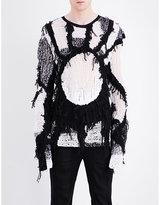 Ann Demeulemeester Loose Knitted Silk And Cotton-blend Jumper