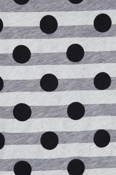J.Crew Dot Over Stripes printed cotton-jersey T-shirt