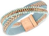 lonna & lilly Gold-Tone Beaded Leather Flex Bracelet