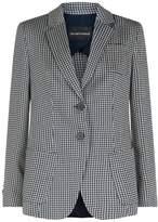 Armani Collezioni Check Fitted Blazer
