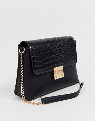 Carvela Blink moc croc chain handle bag-Black