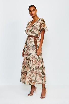 Karen Millen Floral Print Tiered Maxi Dress