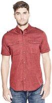 GUESS Short-Sleeve Slub Military Shirt