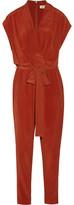 L'Agence Olivia Washed-Silk Jumpsuit