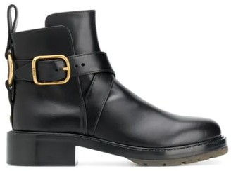 Chloé Diane Buckle Detailed Ankle Boots