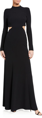 A.L.C. Gabriela Cutout Long-Sleeve Gown