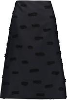Nina Ricci Fil coupé silk-blend twill skirt