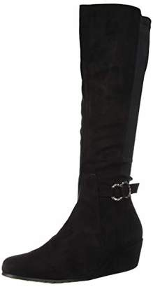 Kenneth Cole Reaction Women's Tip Wedge Dress Knee High Boot Equestrian