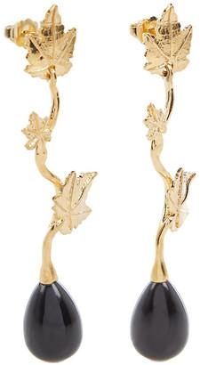 Aurélie Bidermann Vitis Noir Earrings