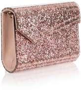 Jimmy Choo Candy pink glitter clutch