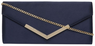 Collection Demitra Satin Flap Over Clutch Bag