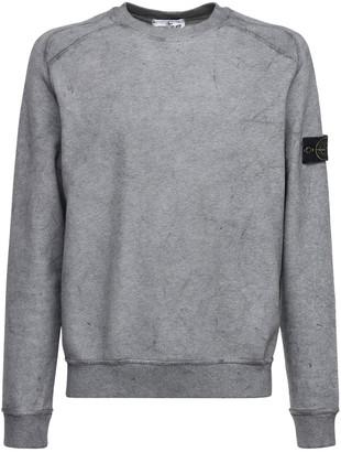 Stone Island Cotton Fleece Sweatshirt