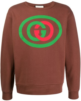 Gucci interlocking G print sweatshirt