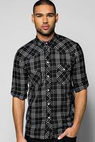 Boohoo 3/4 Roll Up Sleeved Button Through Shirt