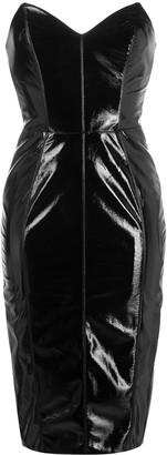 Elisabetta Franchi Latex Bodycon Midi Dress