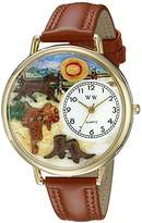 Whimsical Watches Unisex G0160001 Ranch Tan Leather Watch