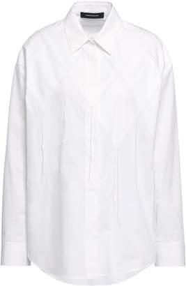 Cédric Charlier Appliqued Cotton-poplin Shirt