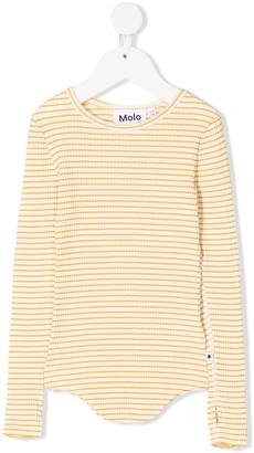 Molo Kids Stripe-Print Ribbed Top