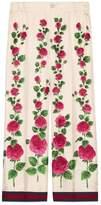 Gucci Rose Garden print silk pajama pant