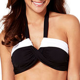 Liz Claiborne Colorblock Molded Bandeau Swim Top