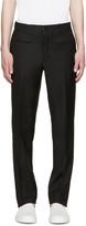 Versace Black Gabardine Trousers