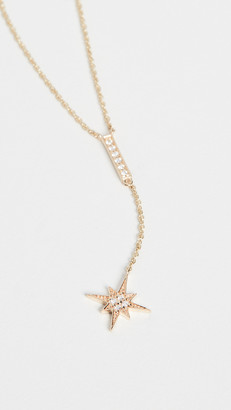 Sydney Evan Pave Bar and Starburst Y Necklace