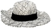 Maison Michel White Cloth Hats
