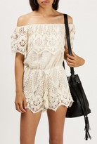 Azalea Off-Shoulder Lace Romper