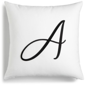 "Charter Club Damask Designs Initial 16"" x 16"" Decorative Pillow, Created for Macy's Bedding"