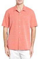 Tommy Bahama Men's Big & Tall Original Fit Jacquard Silk Camp Shirt