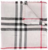 Burberry housecheck scarf - women - Wool/Silk/Viscose/Metallic Fibre - One Size