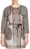 FINITY Sheer Polka Dot Trench Coat