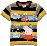 Tiful Peppa Pig Little Boys Summer Short Sleeve O-Neck Cartoon Stripe Cotton T-Shirts