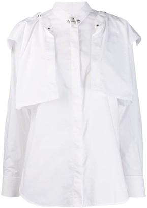Diesel Poplin Shirt With Detachable Ruffles
