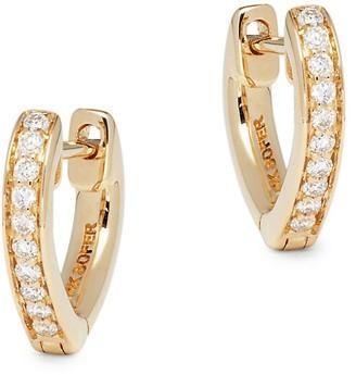 Nephora 14K Yellow Gold Diamond Heart-Shaped Huggie Earrings
