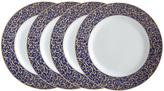 Mikasa Parchment Cobalt Set of 4 Round Salad Plates