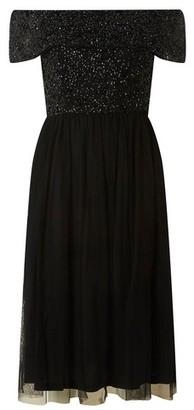 Dorothy Perkins Womens Showcase Black 'Camille' Prom Dress, Black
