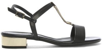 Daniel Loella Black Leather Strappy Sandals