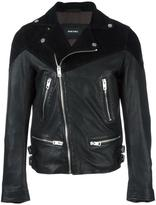 Diesel zipped leather jacket - men - Goat Skin/Sheep Skin/Shearling/Polyester - S